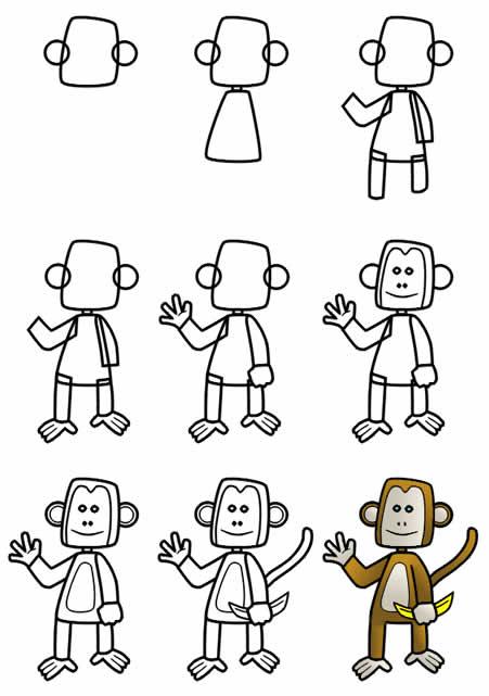 Рисунок обезьяны