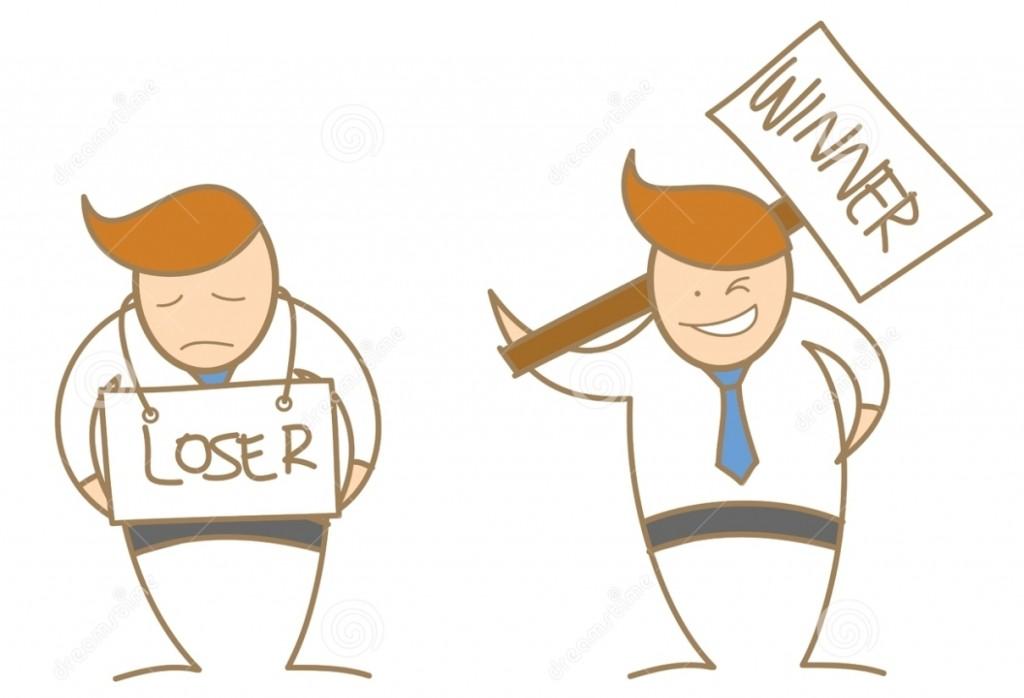 cartoon-character-winner-loser-28126208 - Средство просмотра фотографий Windows